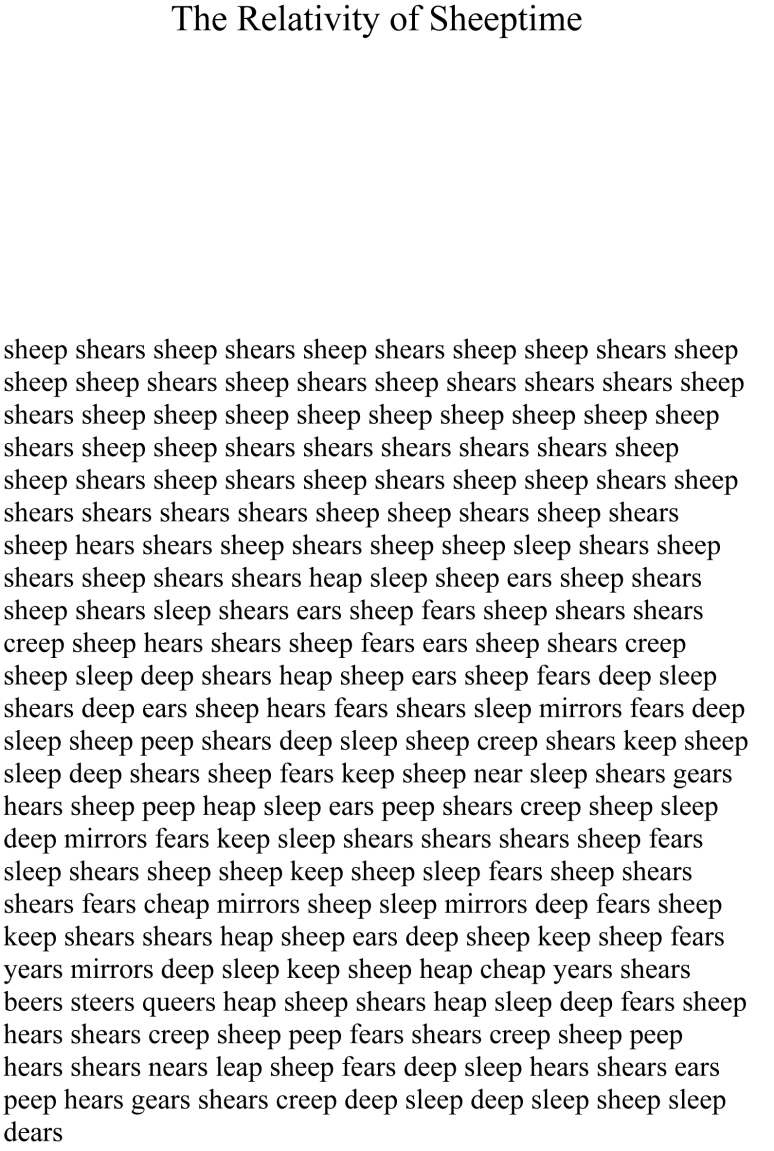 relativity of sheeptime